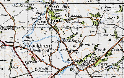 Old map of Lethamhill in 1947