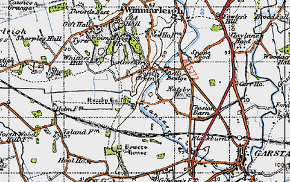 Old map of Whitters Hill in 1947