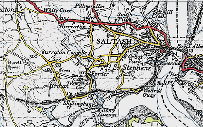 Old map of Forder in 1946