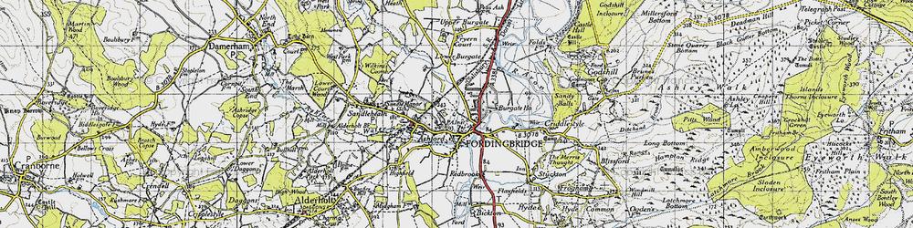 Old map of Fordingbridge in 1940