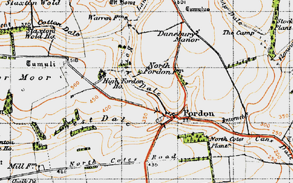 Old map of Lang Dale in 1947