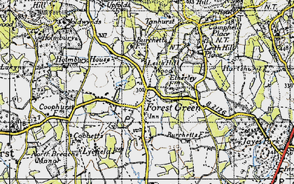 Old map of Forest Green in 1940