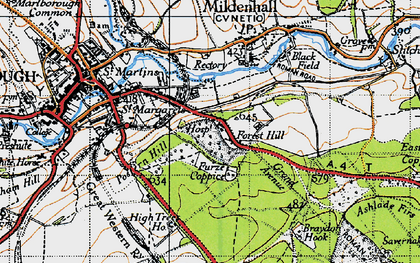 Old map of Forest Hill in 1940