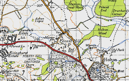 Old map of Forest Hill in 1946