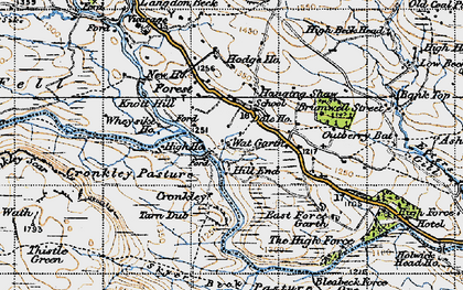 Old map of White Well in 1947