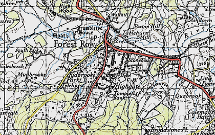 Old map of Forest Row in 1946