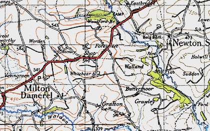 Old map of Whitebear in 1946