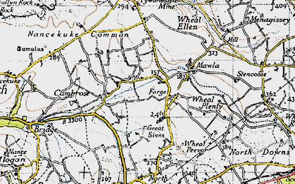 Old map of Forge in 1946