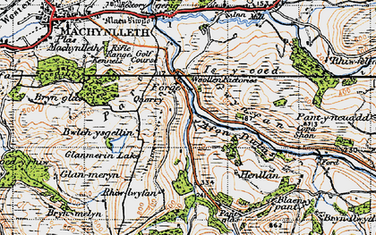 Old map of Allt-cae-melyn in 1947