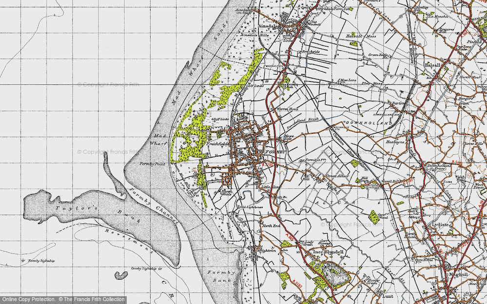 Old Map of Formby, 1947 in 1947