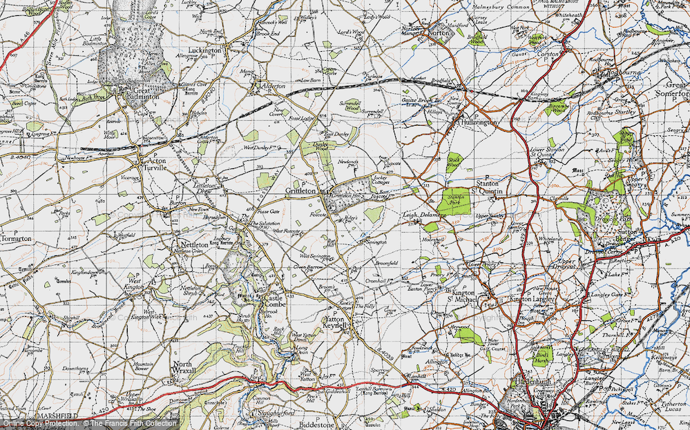 Old Map of Foscote, 1946 in 1946