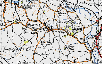 Old map of Foxearth in 1946