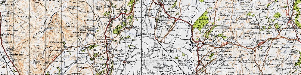 Old map of Angerton in 1947