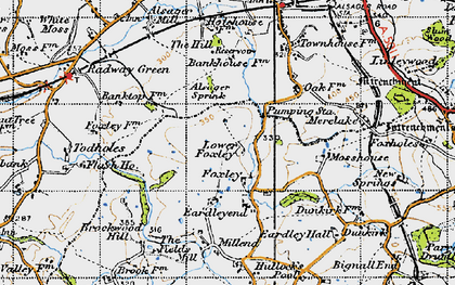 Old map of Bank Top in 1946