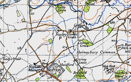 Old map of Foxley in 1946