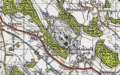 Old map of Bache Wood in 1947