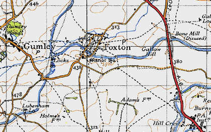 Old map of Foxton in 1946