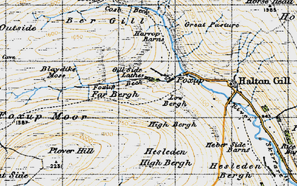 Old map of Yorkshire Dales National Park in 1947