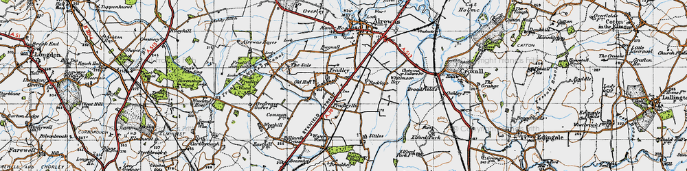 Old map of Whitemoor Haye in 1946