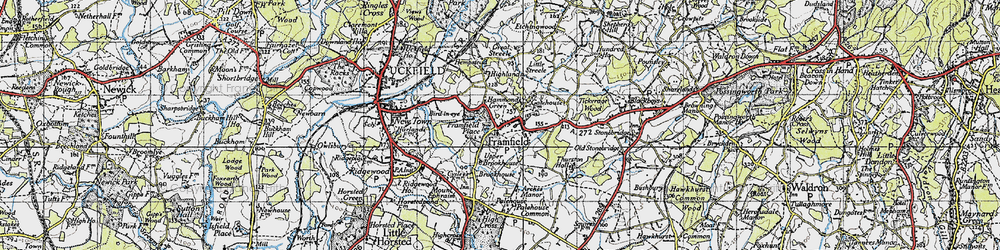 Old map of Framfield in 1940