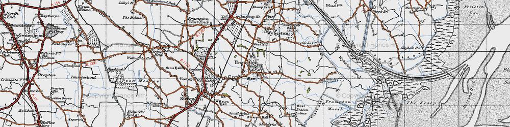 Old map of Wybert's Castle in 1946