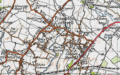 Old map of Frampton Cotterell in 1946