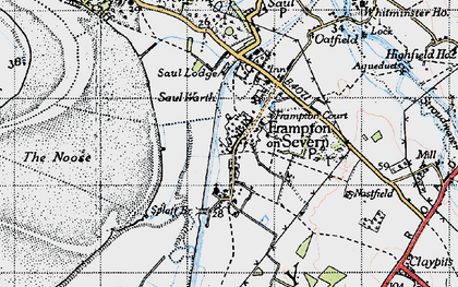 Old map of Frampton On Severn in 1946