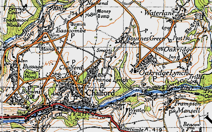 Old map of France Lynch in 1946