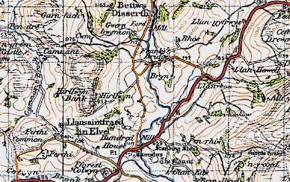 Old map of Allt-y-Coryn in 1947