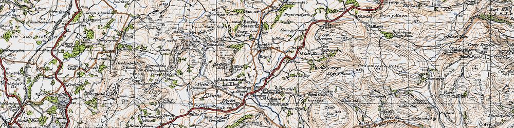 Old map of Allt-y-Coryn in 1947