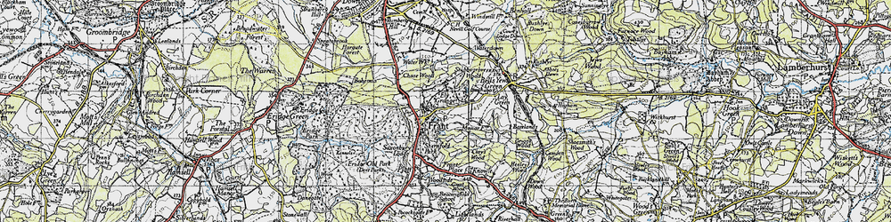 Old map of Frant in 1946