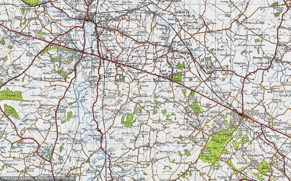 Old Map of Freasley, 1946 in 1946