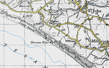 Old map of Freathy in 1946