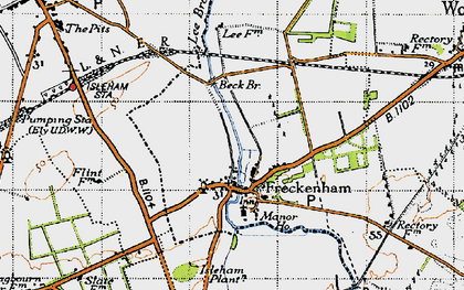 Old map of Lee Brook in 1946