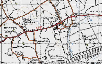Old map of Freckleton in 1947