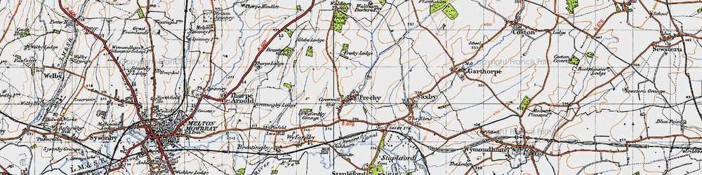 Old map of Freeby in 1946