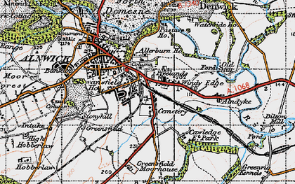 Old map of Allerburn Ho in 1947