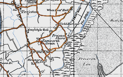 Old map of White Loaf Hall in 1946