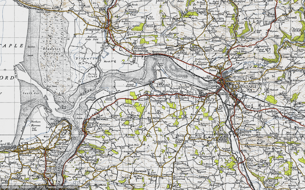 Old Map of Fremington, 1946 in 1946