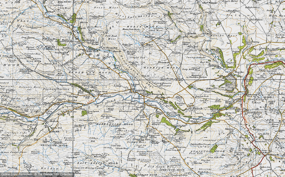 Old Map of Fremington, 1947 in 1947