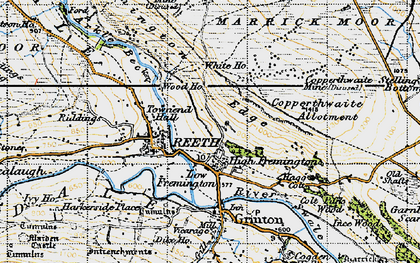 Old map of Fremington in 1947