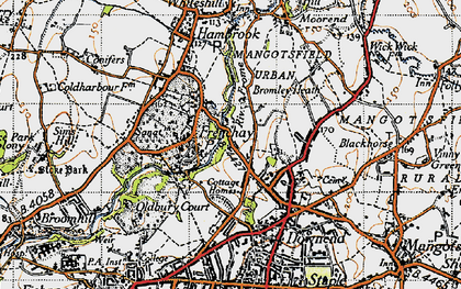 Old map of Frenchay in 1946