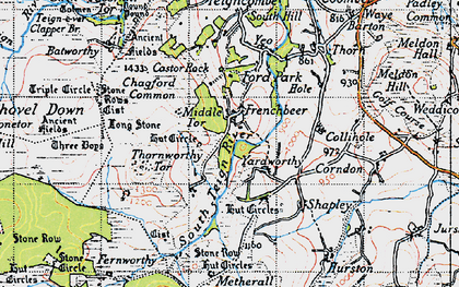 Old map of Assycombe Hill in 1946