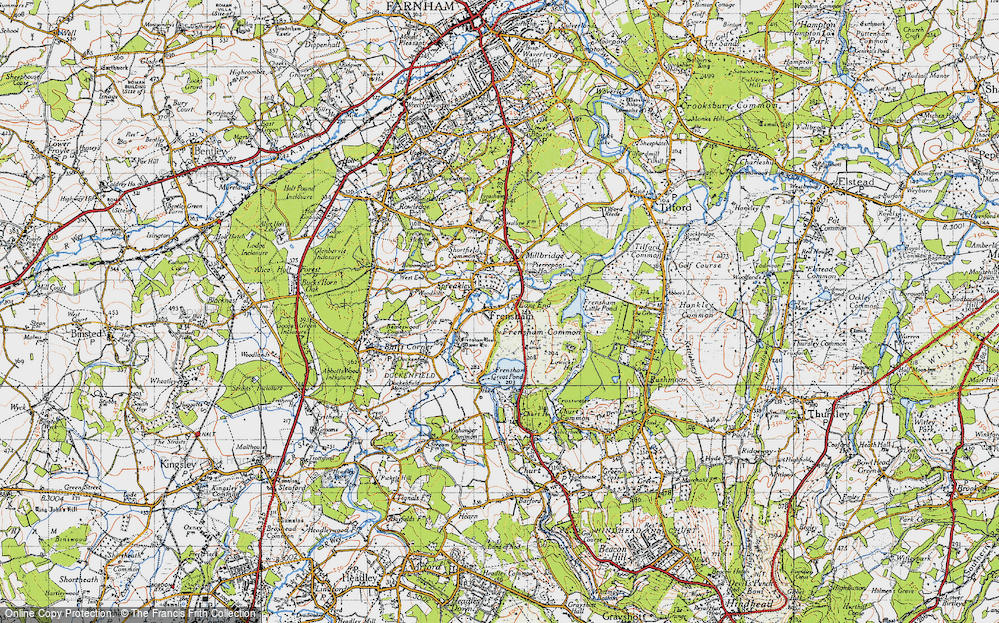Old Map of Frensham, 1940 in 1940