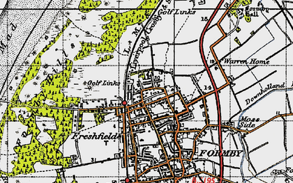 Old map of Woodvale Airfield in 1947