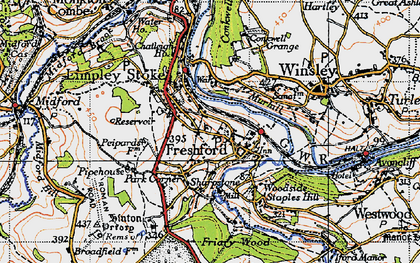 Old map of Freshford in 1946