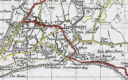 Old map of Freshwater in 1945