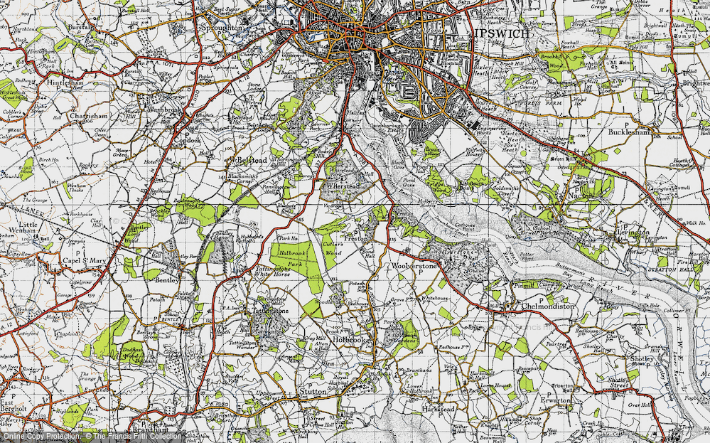 Old Map of Freston, 1946 in 1946