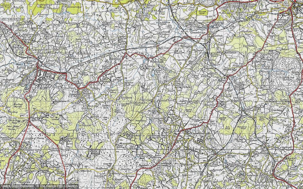 Old Map of Friar's Gate, 1940 in 1940