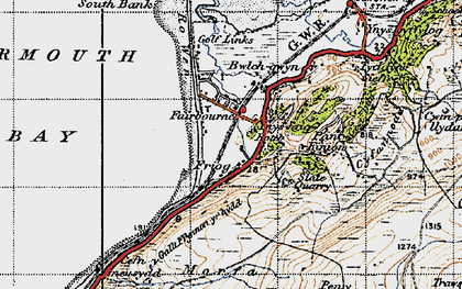 Old map of Friog in 1947